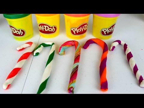 Plastilina Play Doh Candy Canes |Bastoncitos de Navidad de Play Doh