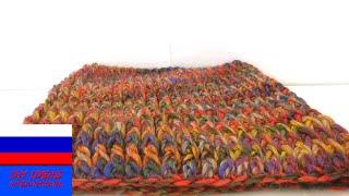 Шарф сингл луп на холодную погоду вязание крючком