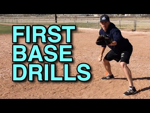 First Base Footwork Drills - Fundamentals of Playing First Base (Part 1)