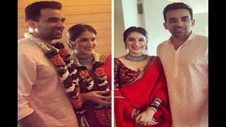 In Graphics: Zaheer Khan and Sagarika Ghatge get married - ABPNEWSTV