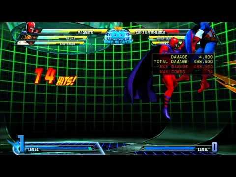 MvC3: Magneto - Combo 03 - Corner Time!