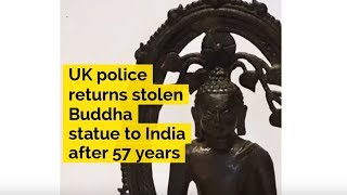 UK police returns stolen Buddha statue to India after 57 years - ABPNEWSTV