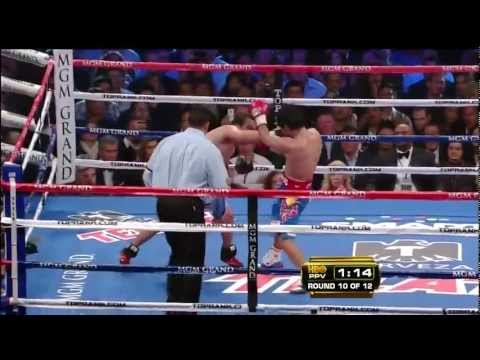 Round 10 highlights - Manny Pacquiao vs Juan Manuel Marquez III