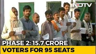 Voting Begins In 95 Seats Across 11 States In Second Phase - NDTV