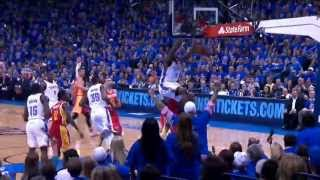 Serge Ibaka's Powerful 2 Hand Dunk In Game 5