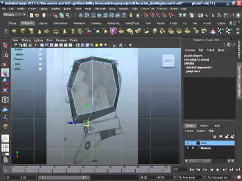 Maya 2011-Human Head Modeling -02
