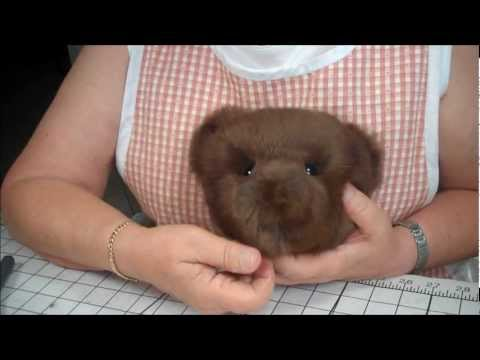 Part 11 Making a Jointed Fur Teddy Bear - The Eyes