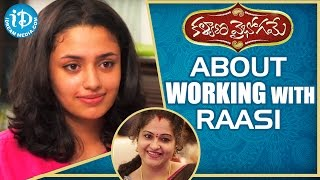 Actress Malavika Nair About Working With Raasi || Talking Movies With iDream - IDREAMMOVIES