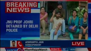 JNU professor Johri detained by Delhi police; accused of sexual harassment - NEWSXLIVE