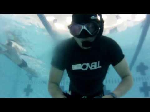 3 Minutes static apnea breath holding training
