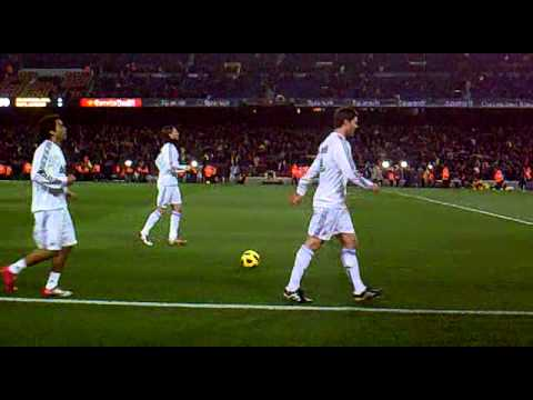 entrenamiento del REAL MADRID en el camp nou CR7. HALA MADRID