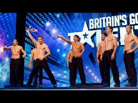 French stuntmen Cascade - Britain's Got Talent 2012 audition - UK version
