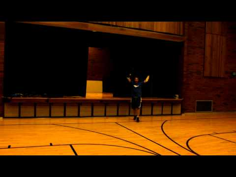 Amputee hits a 3 pointer in basketball with no hands!