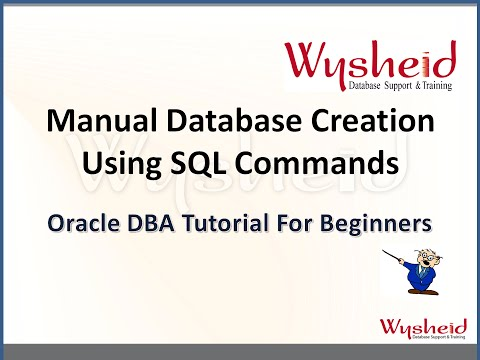 Steps for creating Oracle 11g manually using sql commands