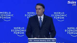 Brazil President Jair Bolsonaro speech at Davos (Portuguese) - THESUNNEWSPAPER