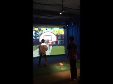 Playing Basketball on a Visual Sports Sytem at Gonzo's