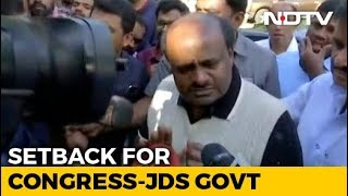 "As 2 Exits Jolt Coalition, HD Kumaraswamy ""Totally Relaxed"" - NDTV"