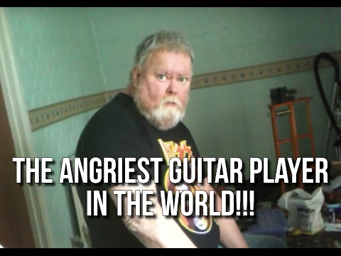 The Angriest Guitar Player In The World!!!  CRAZY!
