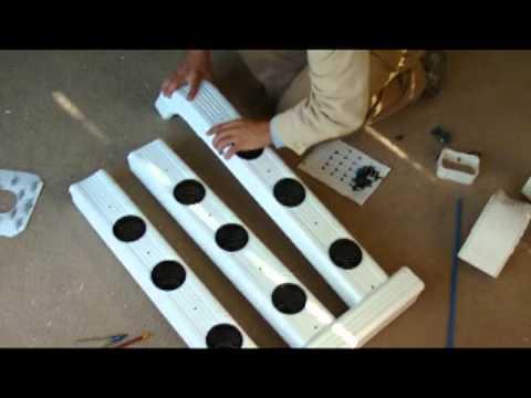 aeroponics gutter system (homemade)
