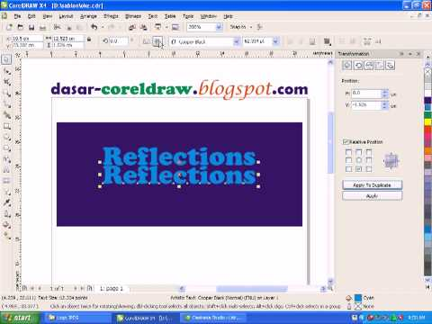 tutorial desain dasar    reflection coreldraw X4
