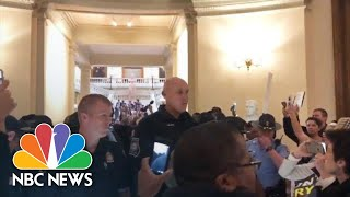 Protesters Arrested At Georgia State Capitol | NBC News - NBCNEWS