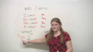 Was and Were, Basic English Grammar Video Lesson, engvid
