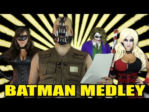 Batman Medley! - One Direction Justin Bieber Lady Gaga FloRida Carly Rae Jepsen Parody!
