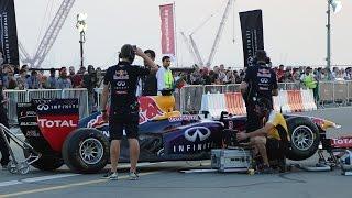النشيد الوطني الإماراتي على أنغام سيارة فورمولا ١