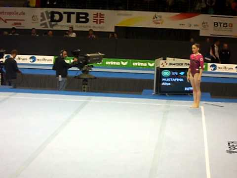 Alya Mustafina Floor Exercise At The European Championships 2011 Germany