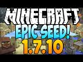 Minecraft 1.7.10 Seeds: EPIC SEED! - Village, Temple, Ravine With 14 Diamonds At Spawn (1.8 Seeds)
