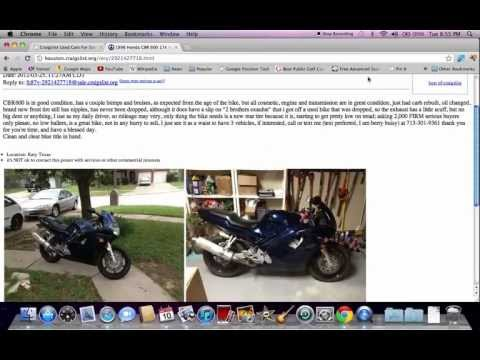 Bikes On Craigslist Houston Craigslist Houston Motorcycles