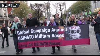 'Close All US/NATO Bases!' Protesters rally in Dublin - RUSSIATODAY