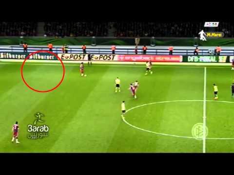 penampakan hantu di pertandingan  Dortmund vs Bayern Munich 0 2 2014 !!   DFB Cup Final 17 05 2014