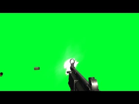 machine gun fire with sleeve flight and sound - COD - green screen effects