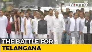 Congress, Chandrababu Naidu's TDP Meet Governor To Pre-Empt Telangana Bid - NDTV