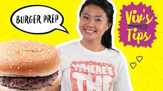 How to Make a Burger for One 🍔 VIV'S TIPS - FOODNETWORKTV