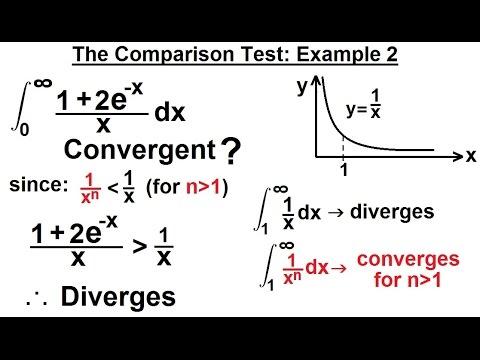 Calculus 2: Improper Integrals (13 of 16) Comparison Test: Example 2