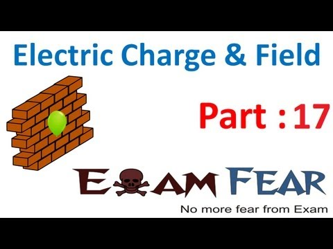 Physics Electric Charges & Fields part 17 (Electric field intensity point charge) CBSE class 12