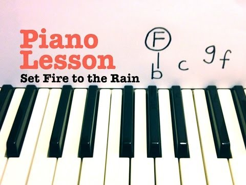 Set Fire To The Rain- Piano Lesson (EASY) - Adele  (Todd Downing)