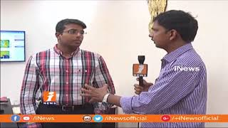 Vigilance Enforcement Kampati Viswajith Face To Face Over Footpath Kabza Issues In Hyderabad| iNews - INEWS