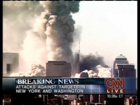 CNN- 9/11-01 WTC North Tower collapses