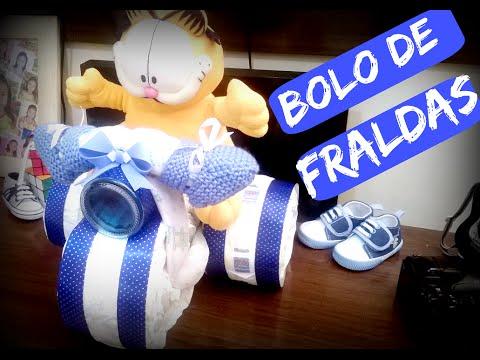 Bolo de Fraldas - Triciclo / Diaper Cake Tricycle - ( Amor de Família )