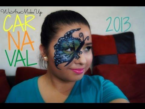 Maquillaje de Mariposa Carnaval 2013