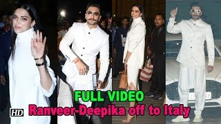 Ranveer-Deepika Wedding: Couple jet off to Italy | FULL VIDEO - BOLLYWOODCOUNTRY
