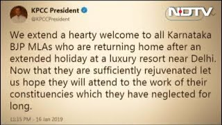 """Welcome, Now Get To Work"": Karnataka Congress Mocks BJP Team's ""Retreat"" - NDTV"