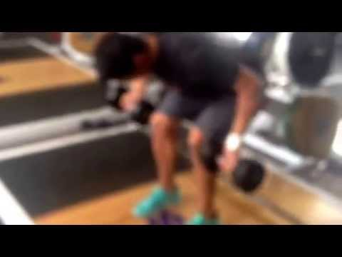 DB Bent over under hand rows wide grip