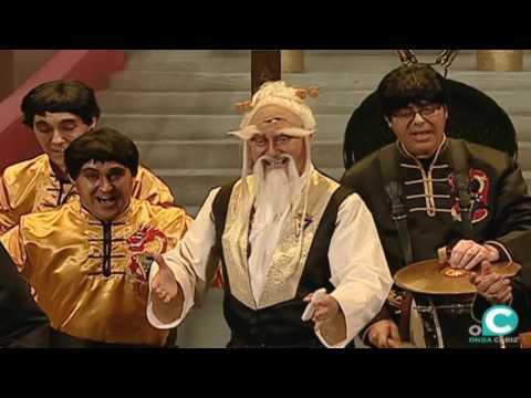 Sesión de Preliminares, la agrupación Los Kunfundios actúa hoy en la modalidad de Chirigotas.