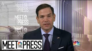 Full Rubio On Mueller Report: 'Absolutely, I Want To See All Of It' | Meet The Press | NBC News - NBCNEWS