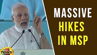 PM Modi Speech about Government Announces Massive Hikes in MSP | Mango News - MANGONEWS