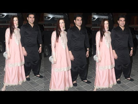 Arbaaz Khan With Gf Georgia Andriani Grace Arpita Khan Diwali Party | Salman Khan | Aayush Sharma